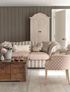 Lovely muted tones - living room  #livingroom #decor