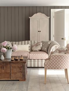 Lovely muted tones - living room