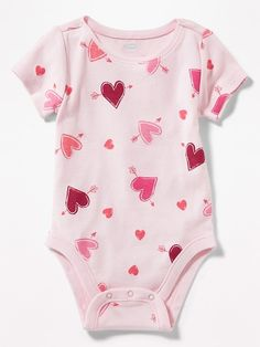 Patterned Jersey Bodysuit for Baby