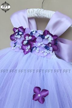 Purple With Royal Blue Accents Flower Girl by FrillyFairyTales