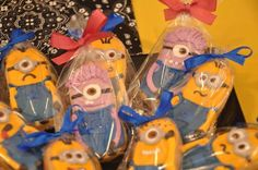 Despicable Me Party, minions , candy bar, cookies