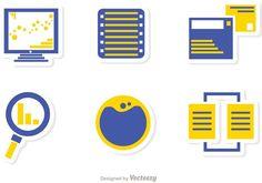Big Data Management Icons Vector Pack 1 Big Data, Management, Packing, Icons, Bag Packaging, Symbols, Ikon