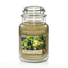 Grapevine & Oak : Large Jar Candle : Yankee Candle This is an interesting combination it has great reviews, just might have to try it :)