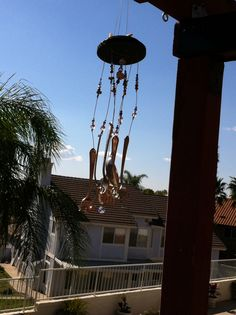 Salvaged silverware wind chimes