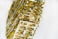 DIY Gold Mylar Heart Piñatas for Valentine's Day   Studio DIY®