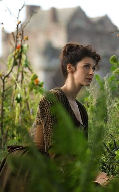 Caitriona Balfe as Claire Randall Fraser in Outlander - love the healer/herb gathering aspect