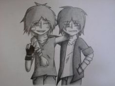 Tyru and Ryo. Two cuties who are eachother bestest friends.  Made by Me