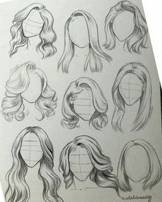 Girl Hair Drawing, Girl Drawing Sketches, Art Drawings Sketches Simple, Pencil Art Drawings, Drawing Tips, Drawing Ideas, Tattoo Sketches, Drawings Of Hair, Realistic Hair Drawing