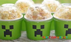 Bring a classic, look to your party with these disposable Minecraft Snack Party Cups. What makes these party supplies so fab? Durability and