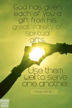 ON THE BLOG: what are your Spiritual gifts? link to test provided.
