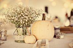 BridalHood: Real Wedding: Dan and Rachel's Vintage Fall Wedding but drill holes…