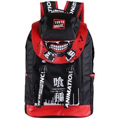Anime Tokyo Ghoul Cosplay Bag Backpack School Bag Hiking Travel... ($36) ❤ liked on Polyvore featuring bags and backpacks