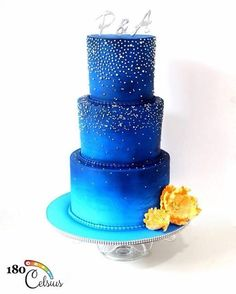 Starry Nights - Wedding Cake - Cake by Joonie Tan
