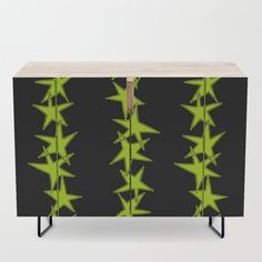 """A true statement maker. Our versatile mid-century modern inspired credenzas are great for use as TV stands, armoires, bar carts, office cabinets or the perfect complement to your bedroom set. The vibrant art printed on the doors will make your piece pop in any setting. Available in a warm, natural birch or a premium walnut finish. - 35.5"""" x 17.5"""" x 30"""" (H) including legs - Steel legs available in gold or black - Interior shelf is adjustabl... Black Interior, Walnut Finish, Wood Finish, Interior, Bedroom Set, Credenza, Steel Legs, Home Decor, Office Cabinets"""