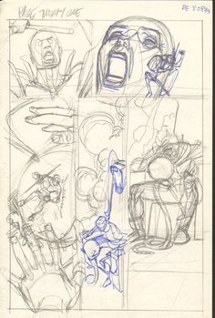 Gil Kane  - Defenders Giant Size #2 pg 21 layouts Comic Art