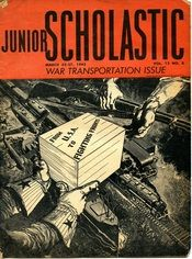 """A """"war transportation"""" issue of Junior Scholastic from March of 1943"""