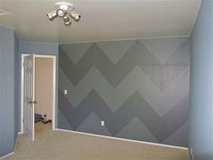 Great tutorial for painting chevron stripes.