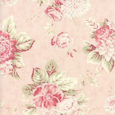 Pink Peach Floral 3 Sisters Favorites Fabric - BTY - Moda - 3765 12 | Crafts, Fabric | eBay!