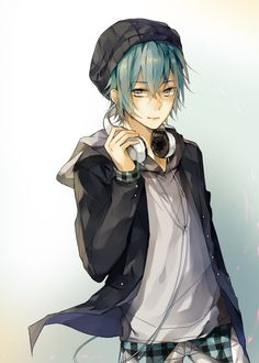 Anime headphones boy 6