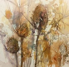 ali lindley is a watercolour artist living in Hampshire. Watercolor Images, Abstract Watercolor, Watercolor Illustration, Watercolor Texture, Watercolor Flowers, Watercolor And Ink, Watercolor Paintings, Watercolours, Plant Painting