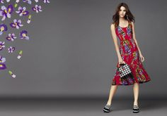 Make a fresh statement this spring with romantic and feminine wisteria print combined with solid and contemporary graphic patterns.  http://bit.ly/1DcBblz