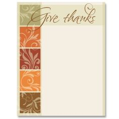Give Thanks Message Letter Paper Thanks Messages, Fall Harvest, Autumn, Computer Paper, Give Thanks, Note Cards, Frames, Stationery, Thanksgiving