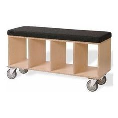 Wood Window Bench Seat for office.