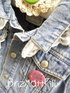 Upcycled Jean Jacket  12-24 months  Designed by Kathy Guerin of BrizMattFilly in Vintage Market & Design-Albuquerque,NM