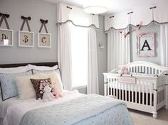 No more babies on the way, but if there were, this room is pretty for a baby girl and I am a huge fan of 'big girl' bed in babies rooms
