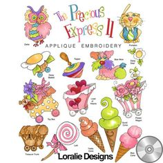 The Precious Express 2 Machine Embroidery Design Collection | Compact Disc