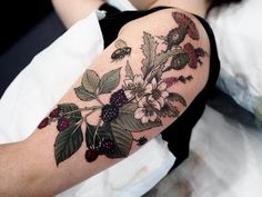 """9787dd40e9883 Sophia Baughan on Instagram: """"A Scottish mix for Lyndal 🌿💁🏻 xx these are  thistles, berries and heather"""". Nature TattoosNature Tattoo SleeveFloral ..."""