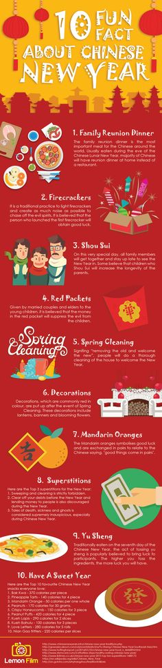 [Infographic] From traditions to superstitions, here are the 10 fun facts about Chinese New Year. : [Infographic] From traditions to superstitions, here are the 10 fun facts about Chinese New Year. Chinese New Year 2017, Chinese New Year Party, Chinese New Year Crafts, New Years Party, Chinese New Year Decorations, Chinese Holidays, Holiday Decorations, Chinese New Year Activities, New Years Activities