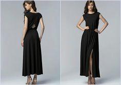 Robe Noir Sexy Longue Fendue 34 36 38 40 42 Nife Neuf