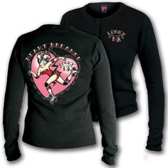 black Heartbreaker Cardigan - roller derby