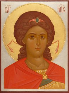 Holy Archangel Michael - Hand-Painted Icon from the Workshop of St. Elisabeth…