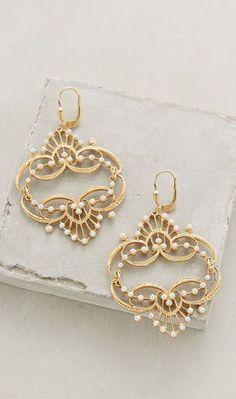 Pearled Chandelier Earrings