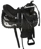 15-17 Black Western Texas Star Show Horse Saddle
