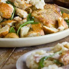 Crispy Chicken Thighs & Warm Bread Salad