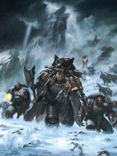 Warhammer 40k artwork — Space Wolves