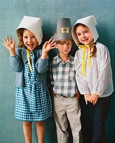 templates for pilgrim hats and bonnets found at Martha Stewart