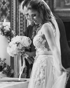 Elena in her LILIA gown 🌼 #costantinobride Girls Dresses, Flower Girl Dresses, Wedding Hairstyles, Brides, Gowns, Wedding Dresses, Hair Styles, Pretty, Instagram