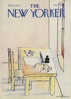 André François : Cover art for The New Yorker 2817 - 12 February 1979