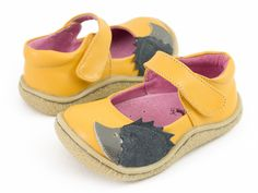 Livie and Luca Fall 2014 Hedgie Yellow Leather – Posh Closet Children's Boutique