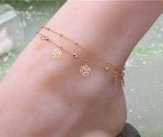 Rose flower anklet ankle bracelets for women pulsera tobillo – shawalt
