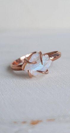 Cute Rings, Pretty Rings, Unique Rings, Beautiful Rings, Crystal Engagement Rings, Dream Engagement Rings, Unconventional Engagement Rings, Handmade Engagement Rings, Moonstone Jewelry