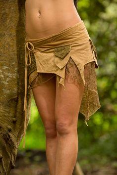 Wickeln Sie Pixie Pocket Skirt Masala Festival von AryaClothing