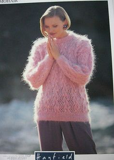 03a7ac2e47019 hayfield-knitting-pattern-4287-ladies-mohair-lace-bobble-sweater-30-42