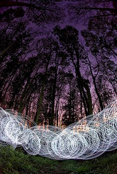 Light Painting . Photo by Martin Kimbell.