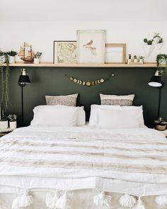 Trendy Home Office Design Dark Wood Benjamin Moore Ideas Bedroom Green, Home Bedroom, Modern Bedroom, Master Bedrooms, Bedroom Furniture, Green Bedrooms, Bedroom Ideas, Contemporary Bedroom Decor, Modern Beds