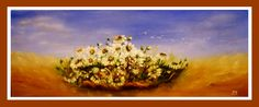 """Daisies"" oil on canvas / 30x80 cm  by Cris"